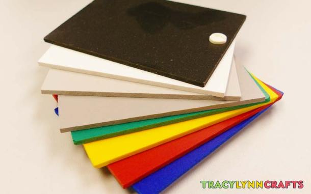 Common colors of PVC to be used as a substrate onto which you can apply your vinyl for Cricut projects