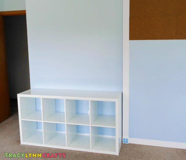 This is the KALLAX shelving unit that is 4 cubes by 2 cubes