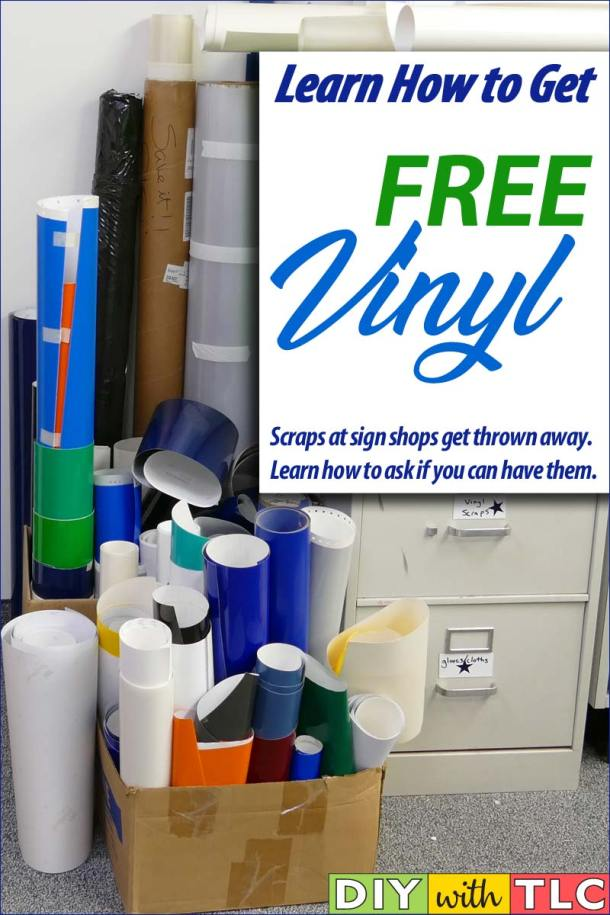 You can get free vinyl for your Cricut crafting needs by asking for scraps from a sign shop. Learn the steps to take and the words to use!