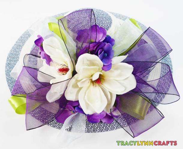 Decorating your Kentucky Derby hat is now finished