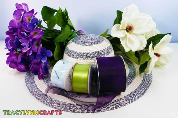 Materials and supplies to make your own Kentucky Derby party hat