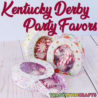Make these Kentucky Derby Party Favor boxes on your Cricut and take to your Derby Watch Party!