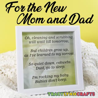 A gift for the new mom and dad - cut the vinyl on your Cricut!