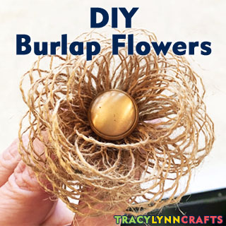 DIY Burlap Flowers to Decorate Your Home