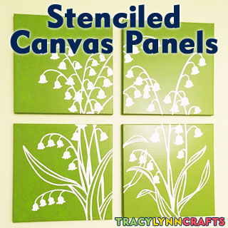 Stenciled Canvas Panels to Brighten Your Home