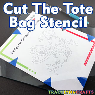 Cut Your Own Stencil for this Stenciled Tote Bag