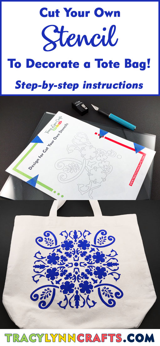 You can cut this stencil and use it to stencil the design onto your own project, like a tote bag | #diy #stenciling #stencil #tote bag