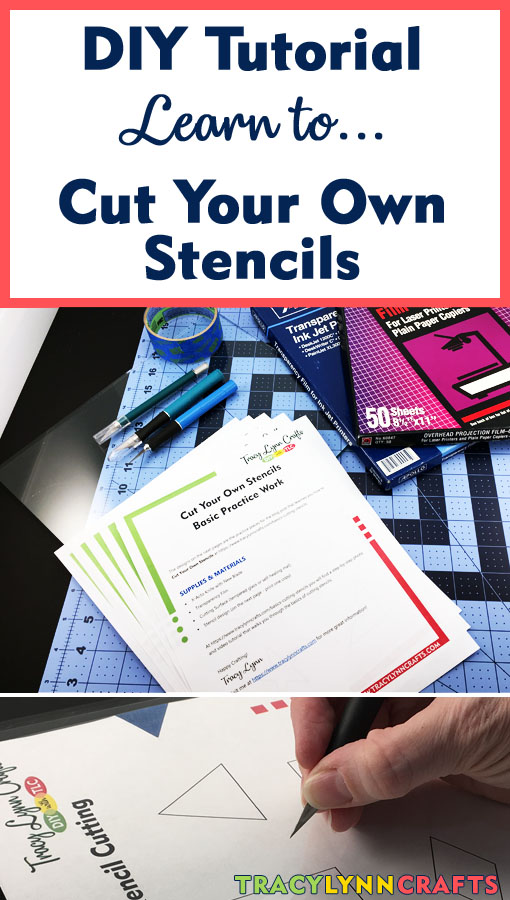 Learn to cut your own stencils with this easy to follow tutorial with video | #diy #stenciling #stencilcutting