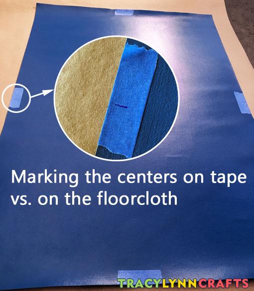 Mark the center of each edge