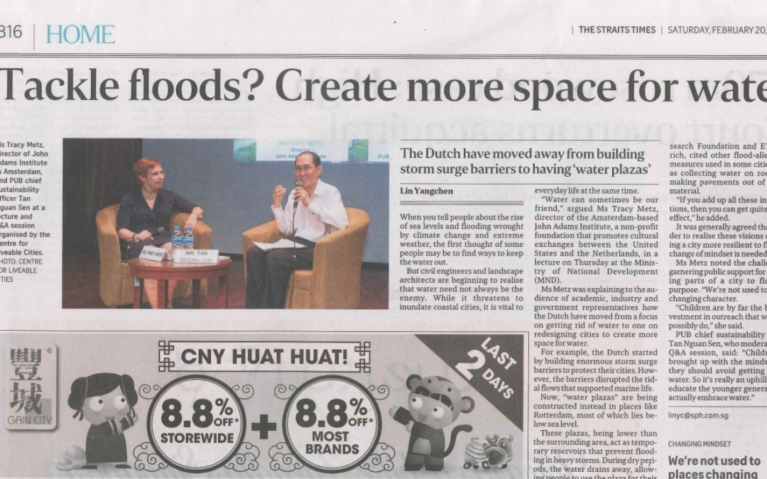 Tackle floods? Singapore update on water