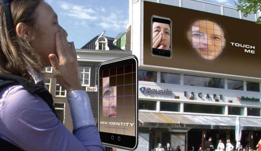 Een gezicht samengesteld uit honderd gezichten