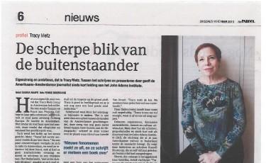 Interview met Het Parool: 'De scherpe blik van de buitenstaander'