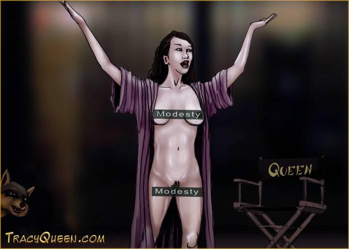 Tracy Queen - 2009/10/20 - Nude Blog Post Selfie - Measurements