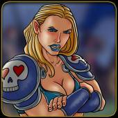 character bios - Tracy Queen Graphic novel bio pic of Natasha Blue