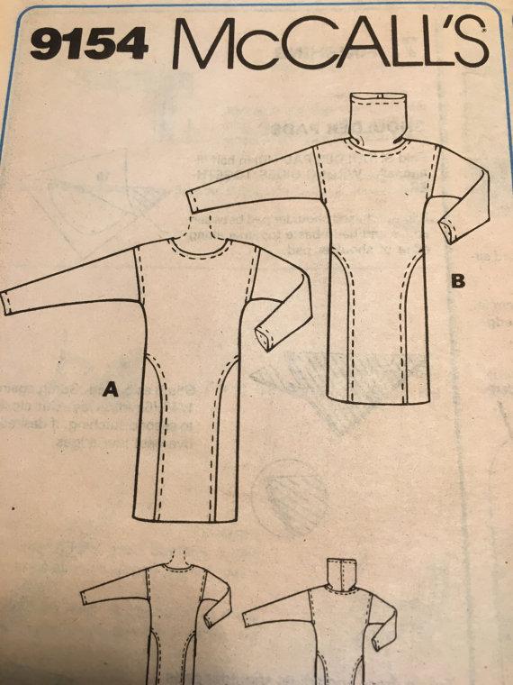 McCalls 9154 Brooke Shields Sweater Dress Pattern
