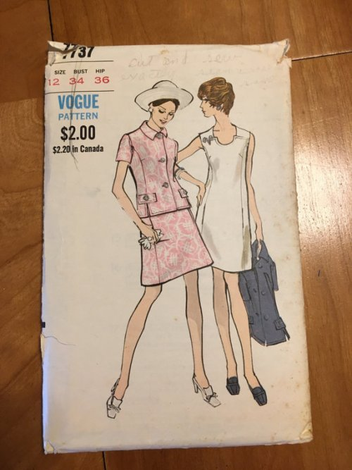 Vogue 7737 1970s Dress and Jacket Pattern