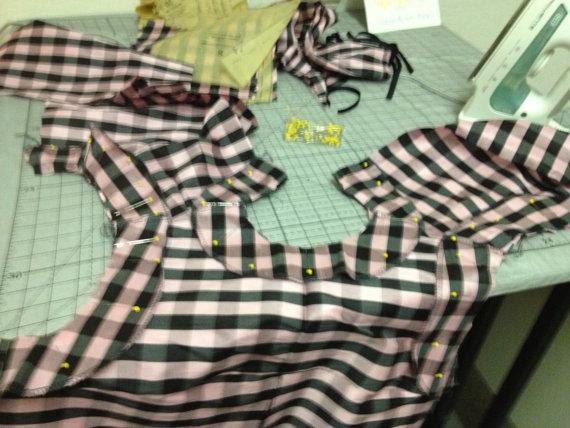 Mod Silk Dress 1960s Inspired by Tracy McElfresh