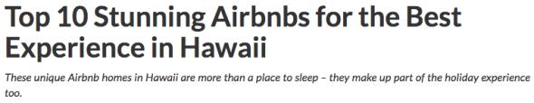 top 10 airbnb rentals hawaii