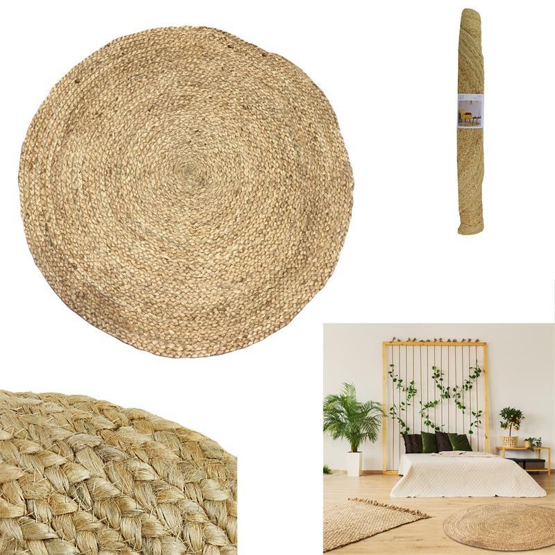 grossiste tapis rond jute 120cm tradaka