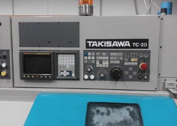 Lathe with fixed tools  Takisawa T20 CNC 