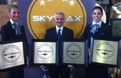 Turkish Airlines wins top Skytrax awards