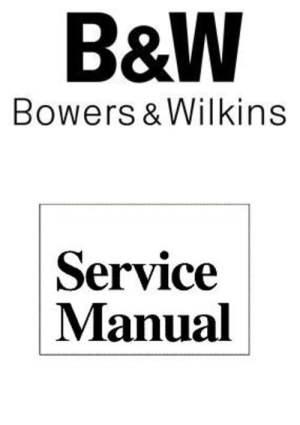 B&W DM16 Bowers & Wilkins Crossover Diagram & Components  Tradebit