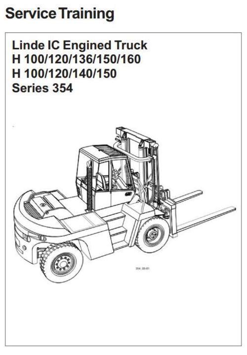 Linde Forklift Truck H354 Series H100 H120 H136 H140