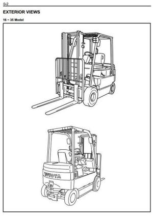 Toyota Electric Forklift Truck: 7FBMF16, 7FBMF18, 7FBMF20