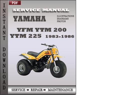 Yamaha Yfm Ytm 200 Ytm 225 Service Repair Manual