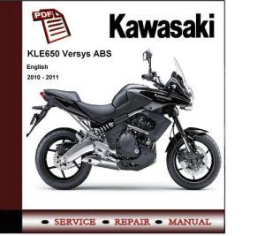 2010  2011 Kawasaki KLE650 Versys Service Repair Manual