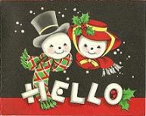 Vintage 1950 S Christmas Card 1 Hello Mr Amp Mrs Snowman