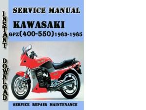 Pay for Kawasaki GPZ(400550) Z(400500550)19831985 Service Manual