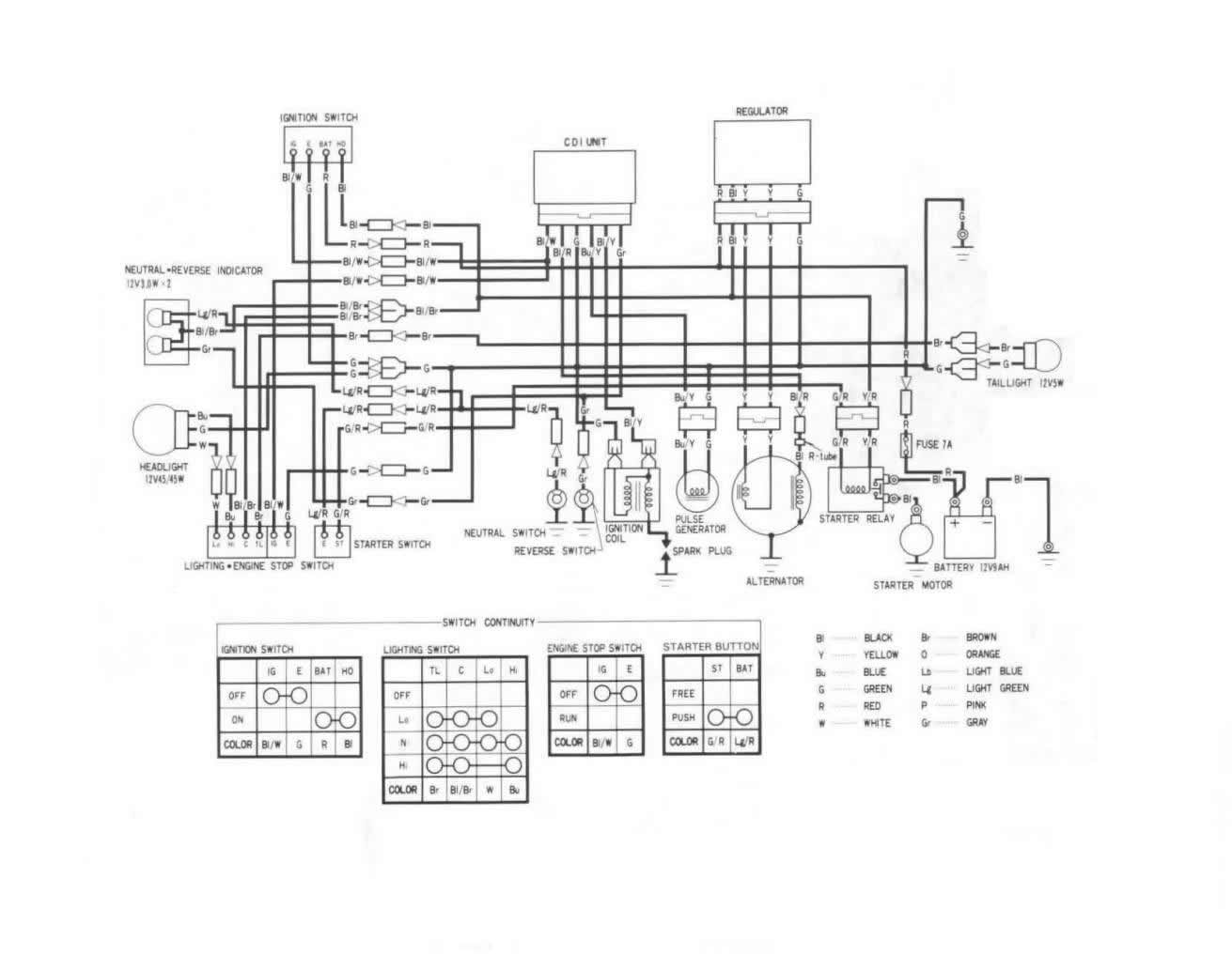 Honda 350 Rancher Battery Wiring - All Diagram Schematics on