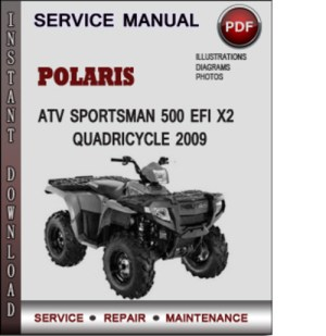 Polaris ATV Sportsman 500 EFI X2 Quadricycle 2009 Factory