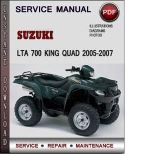 Suzuki LTA 700 King Quad 20052007 Factory Service Repair