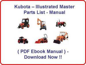 * KUBOTA B7100 HSTD B7100 HSTE TRACTOR PARTS MANUAL  ILLUSTRATED