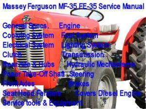 Massey Ferguson MF35 FE35 Service Manual MF35 FE35  Download