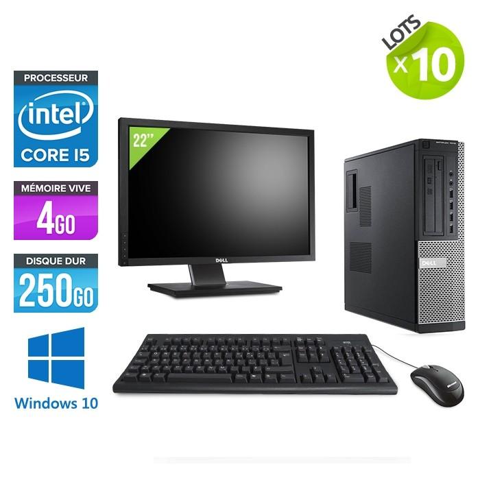 lot de 10 pc occasion dell 7010 desktop ecrans 22 i5 4go 250go windows 10 pro trade discount