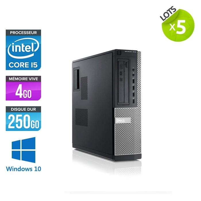 lot de pc de bureau d occasion lot de 5 dell 7010 desktop i5 4go 250go hdd windows 10 trade discount