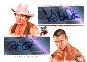 2009 Topps WWE Dual Autograph