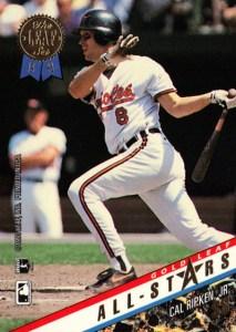 1993 Leaf Update Baseball Gold Leaf All-Stars Cal Ripken
