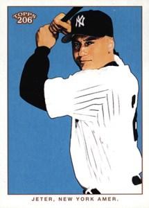 2002 Topps 206 Baseball Variations 380 Derek Jeter