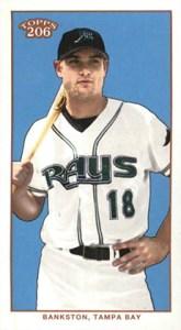2002 Topps 206 Baseball Variations 423 Wes Bankston Mini