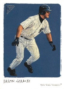 2002 Topps Gallery Baseball Variations 1 Jason Giambi