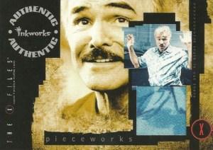 2003 Inkworks X-Files Season 9 Pieceworks Burt Reynolds