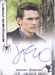 2007 Rittenhouse Spider-Man 3 Autographs James Franco as Harry Osborn