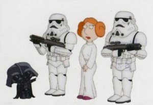 2008 Inkworks Family Guy Episode IV A New Hope Scenes from Space