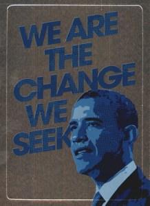 2009 Topps President Obama Foil Sticker