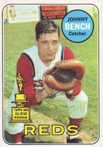 1969 Topps Johnny Bench All-Star Rookie