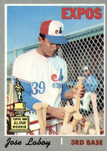 Topps All-Star Rookie Team - 1970 Topps Jose Laboy